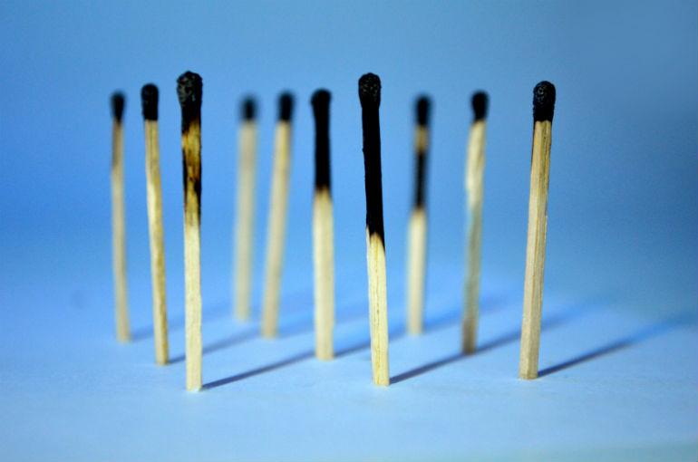 Burnout matches